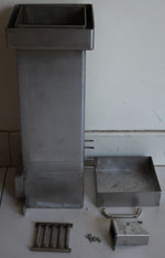 Gravity Feed Burner For Wood Pellet Chips Chunks And Coals