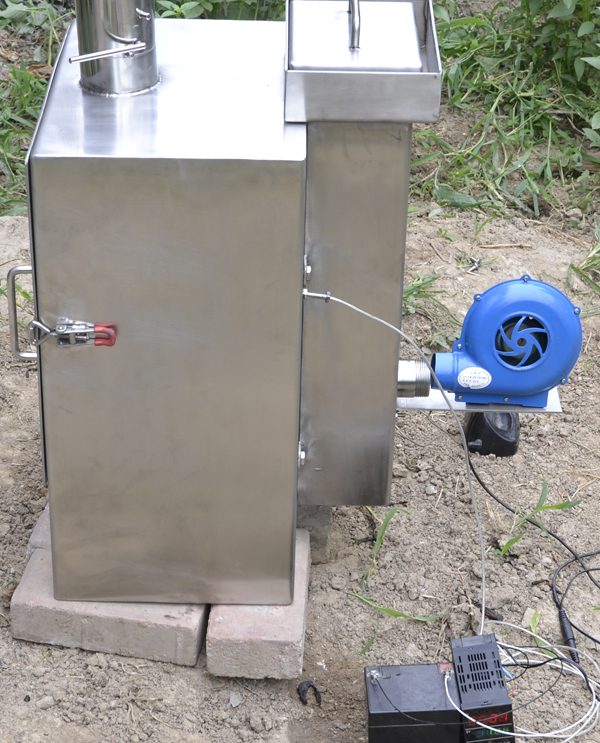 gravity feed wood pellet vertical cabinet smoker, also ...